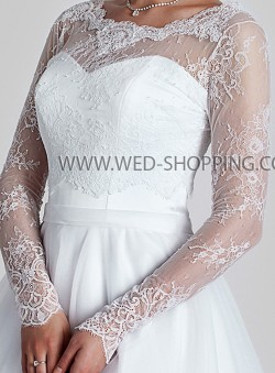 Bridal wear tulle and lace bolero jackets